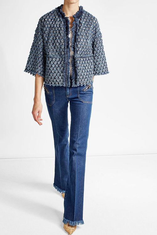 Sonia RykielSonia Rykiel Flared Jeans with Fringes