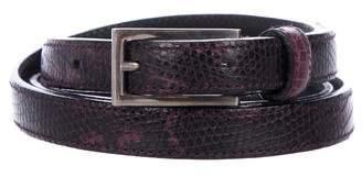 Prada Skinny Lizard Belt