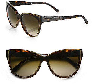Stella McCartney Oversized Acetate Cat's-Eye Sunglasses