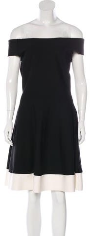 Christian Dior Off-The-Shoulder A-Line Dress