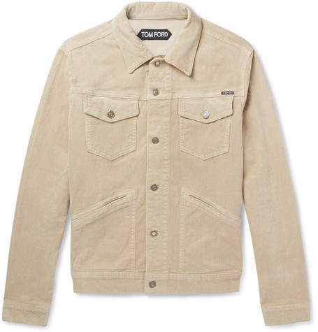 TOM FORD Stretch-Cotton Corduroy Trucker Jacket