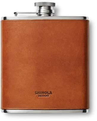 Shinola Men's Leather-Wrapped Hip Flask