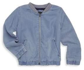 Catimini Little Girl's & Girl's Denim Baseball Jacket