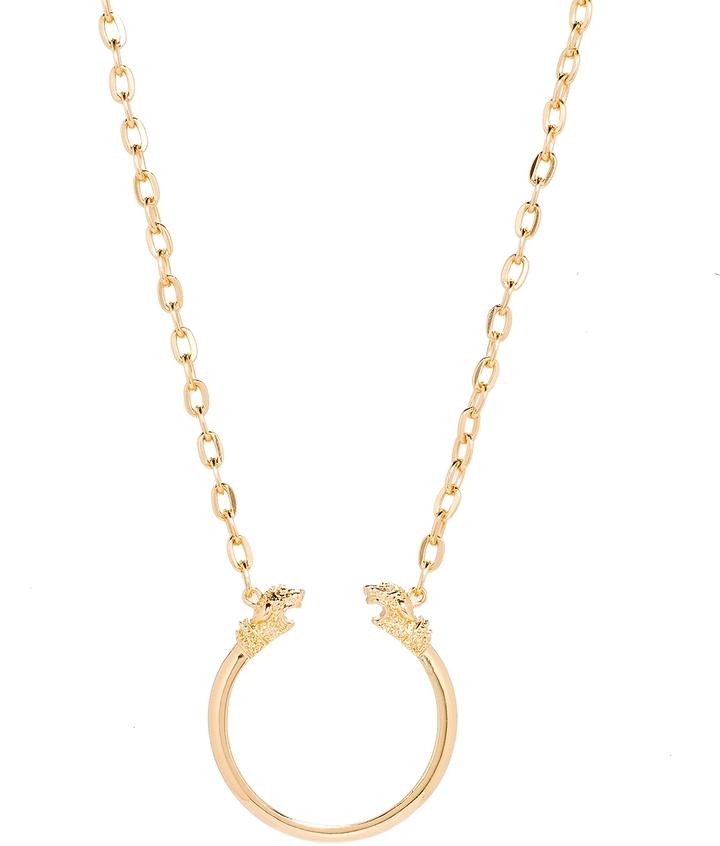 The Limited Long Lion-Head Pendant Necklace