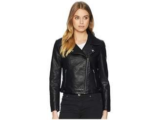 BB Dakota Doin It Right Rippled Vegan Leather Jacket