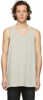 Beige Oversized Rugby Tank Top