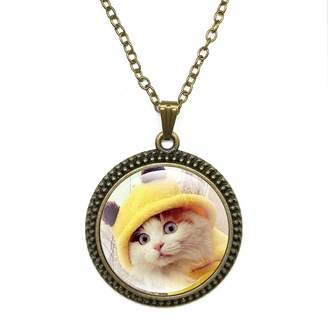 By Zoé Precious Stone Cute Cat Design Silver Necklace for Valentine's Day STORE