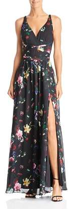 Laundry by Shelli Segal Cross-Strap Floral Gown - 100% Exclusive