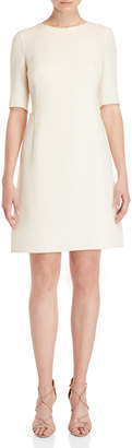 Akris Wool Elbow Sleeve A-Line Dress