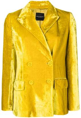 Cavallini Erika double-breasted velvet jacket