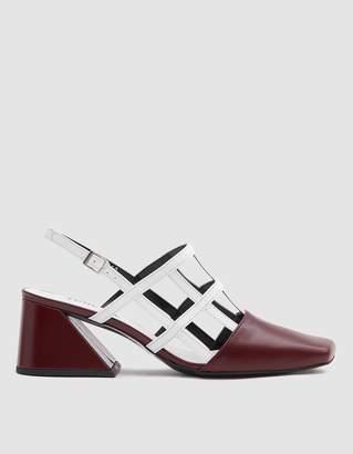 Yuul Yie Gridded Heel in Burgundy/White