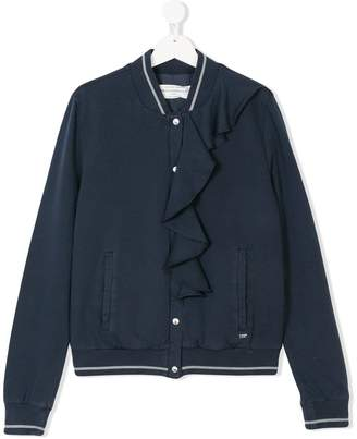 John Galliano TEEN ruffle detail bomber jacket