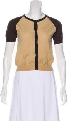 Miu Miu Virgin Wool Short Sleeve Cardigan