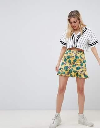 Glamorous pineapple print skirt