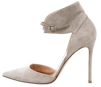 Gianvito Rossi Pointed-Toe Ankle Strap Pumps