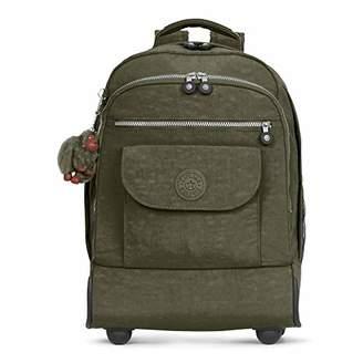 Kipling Sanaa Large Jaded Green Wheeled Backpack
