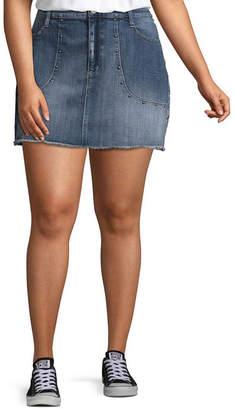Arizona Womens Short Denim Skirt-Juniors