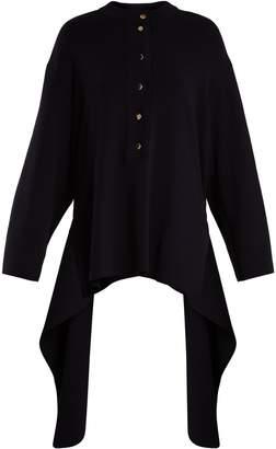 Stella McCartney Crew-neck draped cotton sweater