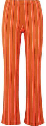 Simon Miller Cyrene Striped Cotton-blend Flared Pants