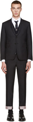 Thom Browne Grey Wool Classic Suit $2,500 thestylecure.com