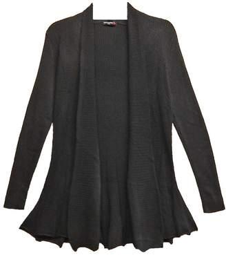 Vivid Black Knit Cardigan