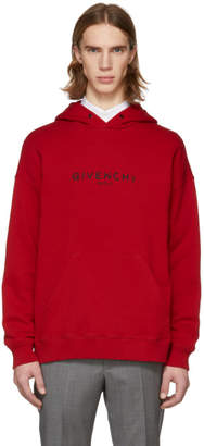 Givenchy Red Vintage Logo Hoodie