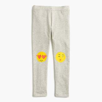 J.Crew Girls' everyday leggings with emoji knee patches