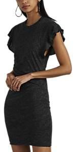 Women's Nanton Gathered Cotton-Blend Dress - Dark Gray Size S