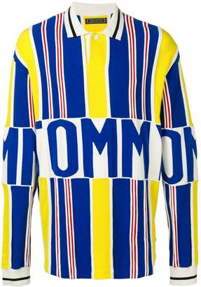Tommy Hilfiger striped logo polo jumper
