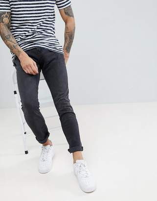 at ASOS Pull&Bear Slim Fit Jeans In Black