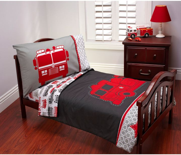 Carter's Carter's® Fire Truck 4-Piece Toddler Bedding Set