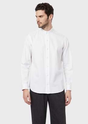 Giorgio Armani Regular-Fit Shirt In Exclusive Seersucker Fabric