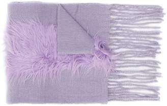 CHARLOTTE SIMONE frayed edges scarf