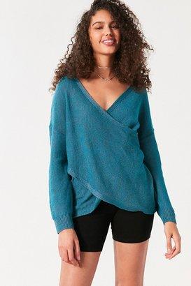 Kimchi Blue Sunny Surplice Sweater $59 thestylecure.com
