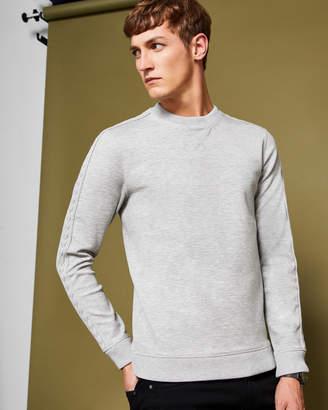 Ted Baker SPANYAL Knitted panel detail sweatshirt