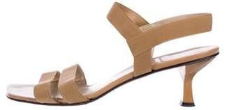 Stuart Weitzman Woven Ankle Strap Sandals