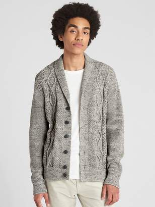Gap Cable-Knit Shawl Cardigan Sweater