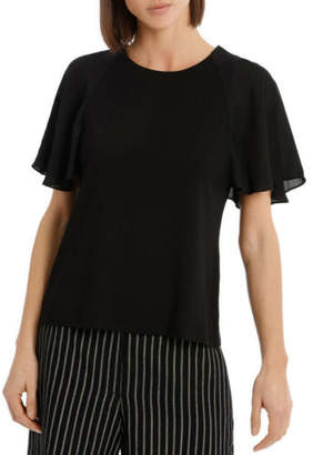 Basque NEW Must Have Chiffon Tee Black