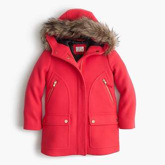 J.Crew Girls' stadium-cloth chateau parka
