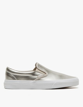 Classic Slip-On in Silver $60 thestylecure.com
