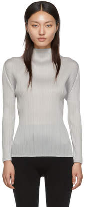 Pleats Please Issey Miyake Grey Basics Turtleneck