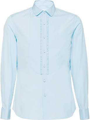 Prada poplin tuxedo shirt