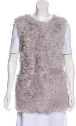 St. John Open Front Fur Vest