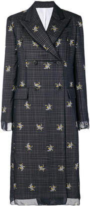 Calvin Klein floral details coat