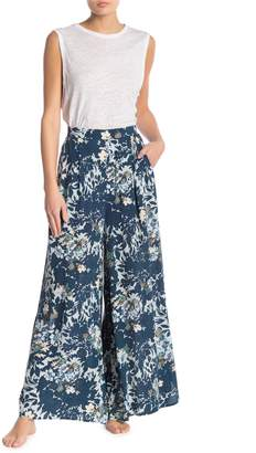 Free People Late Night Floral Wide Leg Pants