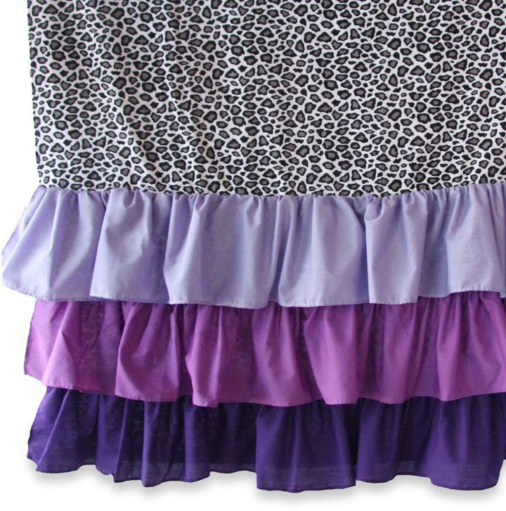 Caden LaneCaden Lane® Girly Purple Leopard Curtain Panels (Set of 2)