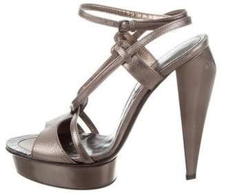Burberry Leather Platform Sandals