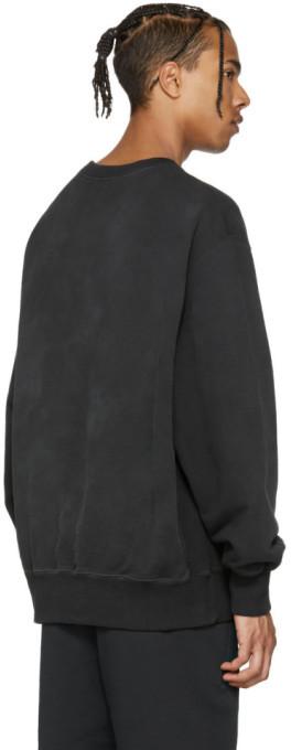 YEEZY Black Boxy Crewneck Sweatshirt 4