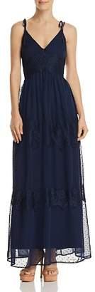 Aqua Swiss Dot & Lace Maxi Dress - 100% Exclusive