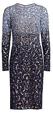 Pamella Roland Women's Ombré Crystal Cocktail Dress